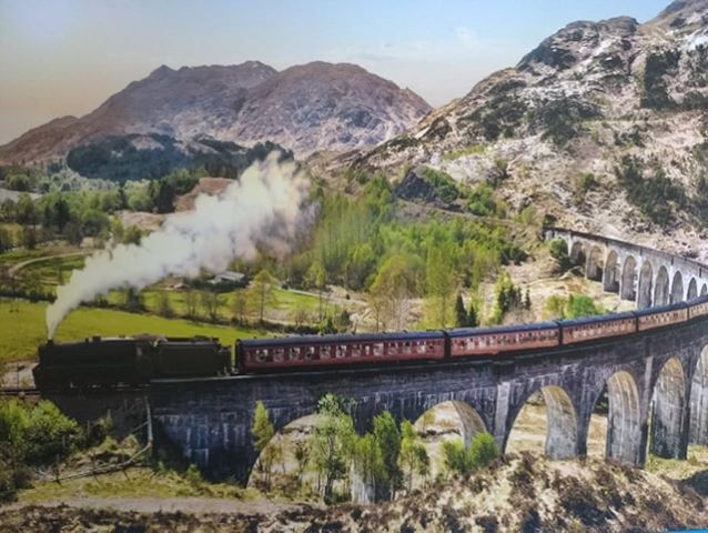 Ecosse train a vapeur qui relie fort William à Mallaig petit port écossais - auteur photo inconnu