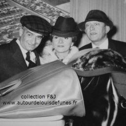 Photo (de gauche à droite) : Louis de Funès, Colette Brosset et Robert Dhéry - photo : auteur inconnu
