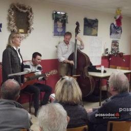 Miquèla Thomas et Emile Bramerie en concert privé à Roquebrune sur Argens en novembre 2019 - photo André Abbe