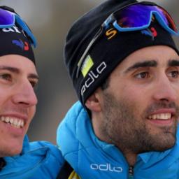 Championnats du Monde de biathlon 2020 en Italie - Fillon Maillet et Martin Fourcade - photo AFP