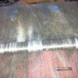 Rouleau de nappe cordée de laine ou rollag - photo Claude Pluchard