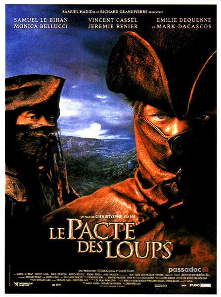 Affiche du film Le Pacte des Loups - film Vincent Cassel